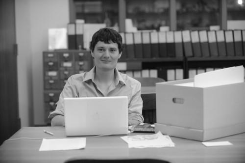 In de archieven van de University of Mississippi (fotograaf: Nathan Latil)
